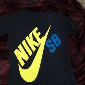 Neon Nike skateboard shirt